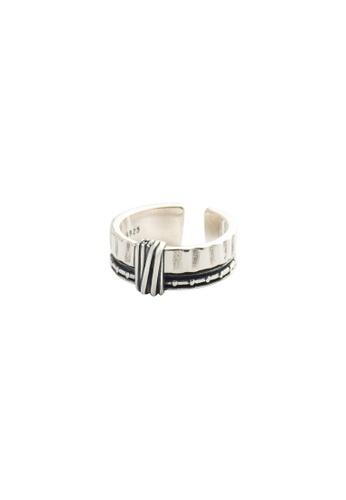 OrBeing white Premium S925 Sliver Geometric Ring 00B57AC747F044GS_1