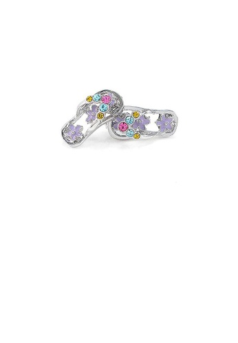 Glamorousky multi Cutie Light Purple Shoes Earrings with multi-color CZ 569FEAC0ACDC26GS_1