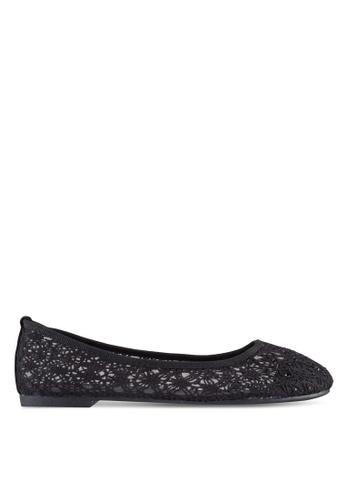 Noveni black Crochet Ballerinas NO978SH65VTYMY_1