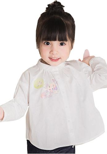 M.Latin white Long Sleeve A-Line Button Blouse 60018KAE60BE3CGS_1