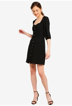 21cf07f80a3d 10% OFF Lipsy Black Historic Button Through Dress S  102.90 NOW S  92.90  Sizes 6 8 10 12 14