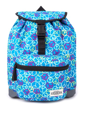 Courier blue Peace Drawstring Mini Backpack CO826AC69ZLIPH_1