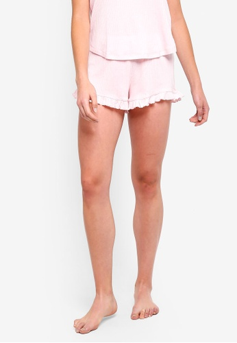 Cotton On Body pink Rib Frill Shorts B9F7AAAE6FEA40GS_1