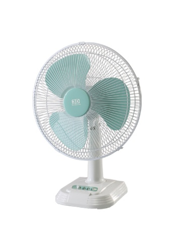 3D white Cheerful Wind Desk Fan B695DES009EA83GS_1