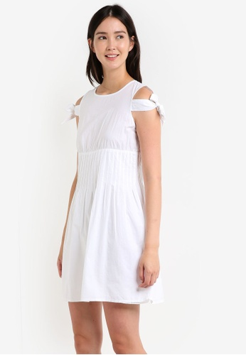 Mango white Poplin Dress MA193AA0RAUBMY_1