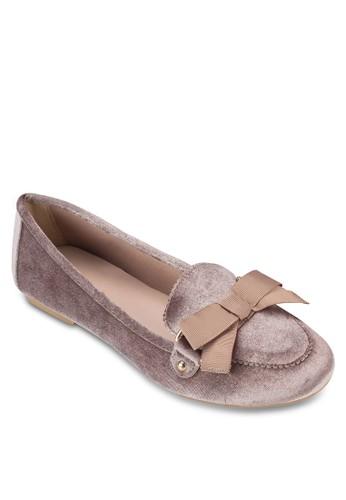 Swarm 絲絨蝴esprit 會員卡蝶結平底鞋, 女鞋, 鞋