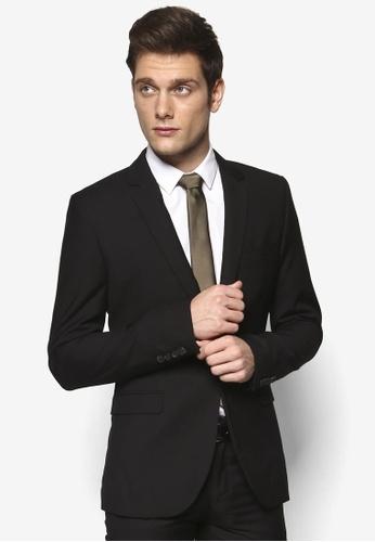 Topman black New Fit Black Skinny Suit Jacket TO250AA78PFHSG_1