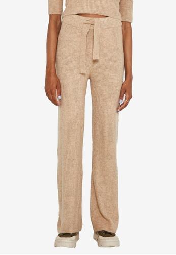 Noisy May beige Susie Loose Knit Pants 74EC2AA58CBBAFGS_1