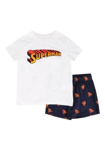 FOX Kids & Baby white Off White T-Shirt And Printed Shorts Set FD489KA7DC0F79GS_1