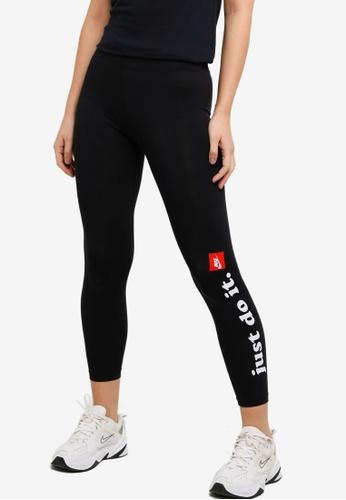 Nike black and grey Sportswear Club Leggings E62E9AAFBCFFD0GS_1