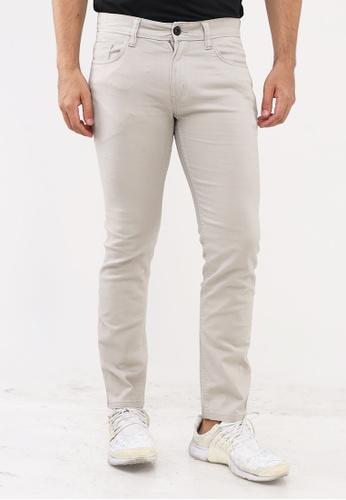 Bossini Men beige Slim Tapered Casual Pants 33955AA0484131GS_1