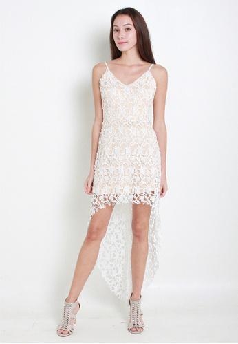 Leline Style white Jennie Crotchet Dress LE802AA09QUWSG_1
