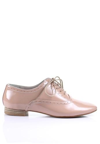 PRODUIT PARFAIT pink Enamel Sheep Leather Lace up shoes DDE07SH7701887GS_1