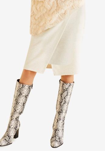 Mango beige Cotton-Blend Wrap Skirt 7B926AA1DADEF5GS_1