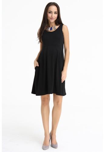 Bove by Spring Maternity black Knitted Eva Sleeveless Dress LD401 SP010AA77UKOSG_1