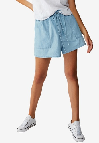 Cotton On blue Drapey Longline Shorts 4AA5CAA0A1F2F1GS_1