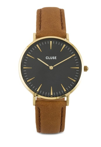 La Bohème 刻度顯示真皮圓錶, 錶類, 皮革錶esprit retail帶