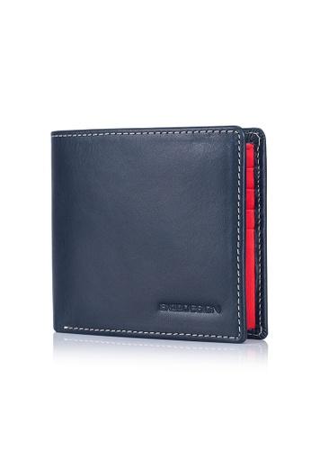 ENZODESIGN navy Italian Leather Street Casual Bi-fold Wallet EN115AC0JRY2PH_1