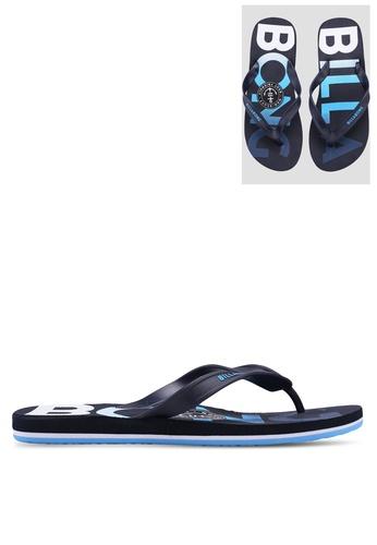 Billabong blue All Day Print Sandals 189C8SHE0760F9GS_1