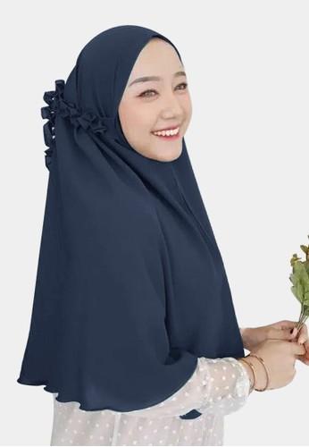 zelena navy Hijab Instan Daily Bergo Kanisa Tali Kriwil - Galaxy Blue 568E0AAD03CE28GS_1