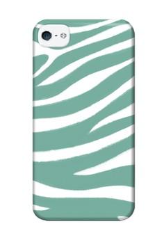 Blue Zebra Print Glossy Hard Case for iPhone