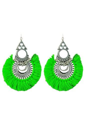 Zaryluq green Tassel Earrings in Harra 41306ACC70105CGS_1