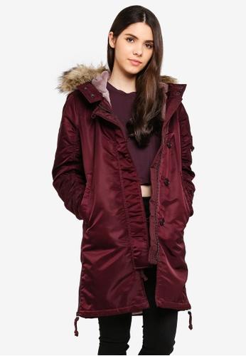 174f33237 Buy Abercrombie   Fitch Shiny Nylon Parka Jacket Online on ZALORA ...