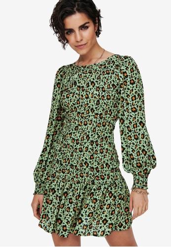 JACQUELINE DE YONG green Drew Life Long Sleeves Dress 3C2D2AAA425197GS_1