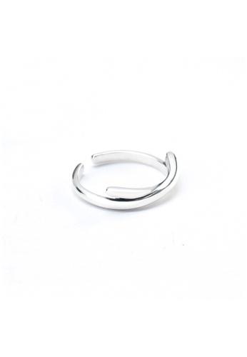 OrBeing 白色 Premium S925 Sliver Geometric Ring 828E9AC0E50359GS_1