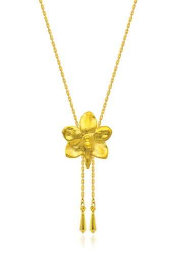 RISIS gold RISIS 24K Gold Plated Natural Ascocenda Sagarik Orchid Slider 5779FAC6A2F219GS_1