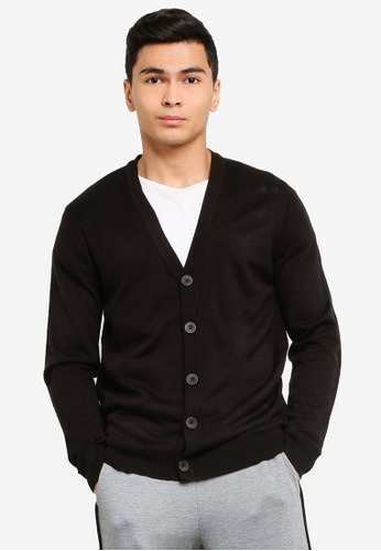 Brave Soul black Whitlaw Cardigan 9D771AA21929ABGS_1