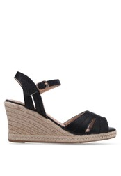 Bata black Strappy Wedge Sandals BA156SH0RY69MY_1