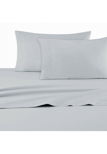 Dkny grey DKNY Classic Percale Grey Pillowcase Pair. 5275BHLF9EB7EEGS_1