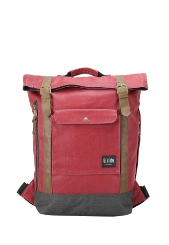 G.ride grey and red Balthazar Backpack 6D862AC4CED86DGS_1