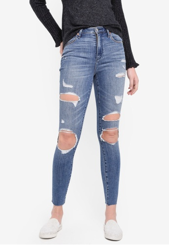 Abercrombie & Fitch blue Med Blowout Sim Hr Superskinny Jeans DF869AAE1E04F7GS_1