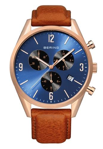 Bering gold Classic 10542-467 Blue 42 mm Men's Watch 27F85AC2A00742GS_1