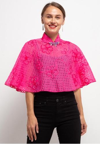 LUIRE by Raden Sirait pink Fm Bolero Midi Opud 15818AA867BCFCGS_1