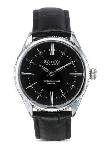 SO&CO black Madison Watch 5023 SO540AC0SHM2MY_1