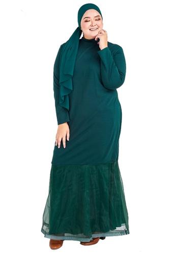 CURVA FABULOUS green Ms Lana Organza Dress 01D08AAD94B38DGS_1