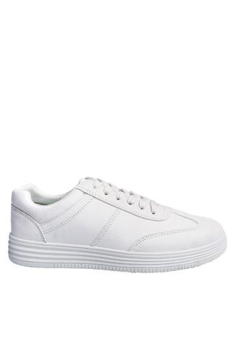 Twenty Eight Shoes white Striation Platform Outsole Sneaker VT02 060D9SH61F8241GS_1