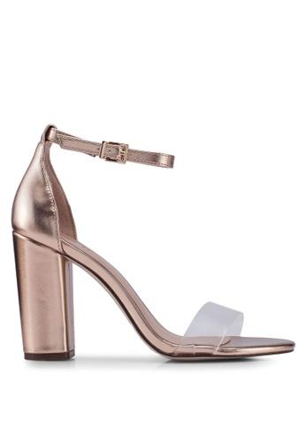 Call It Spring gold Tayvia Open Toe Ankle Strap Block Heels C4888SHDB3817AGS_1