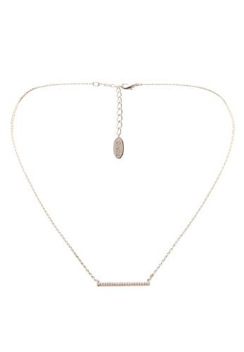 Orelia London gold Golden Plate Fine Crystal Bar Short Necklace OR747AC0SC47MY_1
