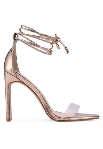 Public Desire pink and gold Tierra Heels 2F777SHD0C7273GS_1