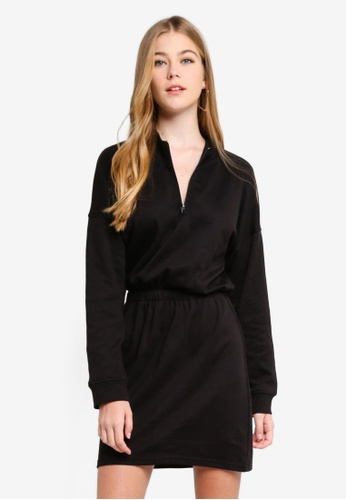 fe53f30900b MISSGUIDED black Oversized High Neck Ruched Waist Sweater Dress  BDDE4AA97604B5GS 1. CLICK TO ZOOM