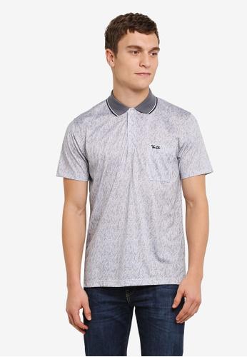 BGM POLO grey Printed Polo Shirt BG646AA0S0KYMY_1