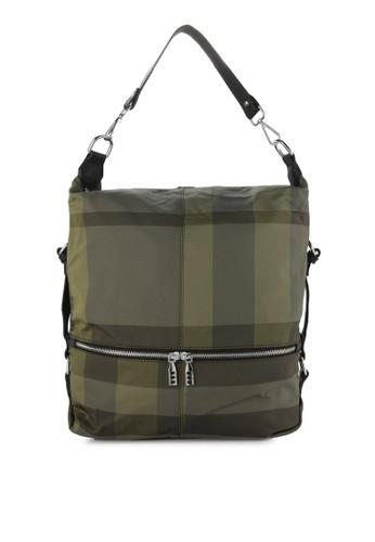 HUER green Maurie Checkered 3 Ways Backpack A2B30AC05E686EGS 1 949d5dc1a9