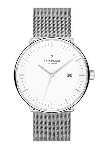 Nordgreen silver Nordgreen Philosopher Silver 36 mm - Silver Mesh Watch 01B30ACA91E618GS_1