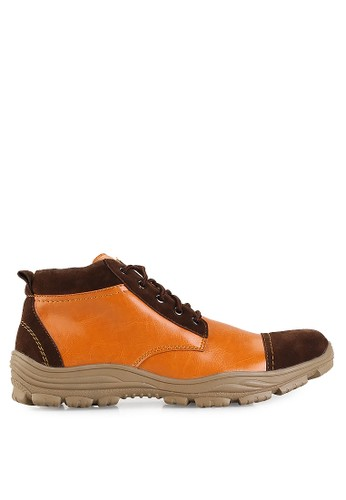 Dr. Kevin brown Boots Shoes 1043 Tan/Coklat Leather DR982SH13UEKID_1