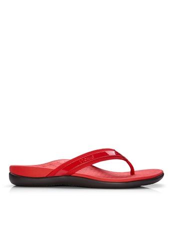 Vionic red Islander Toe Post Sandal 9FD19SHC9AABFFGS_1