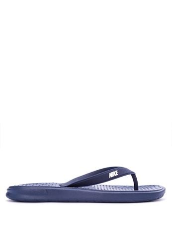 Nike blue Men's Nike Solay Thong Sandals NI126SH0STSFMY_1